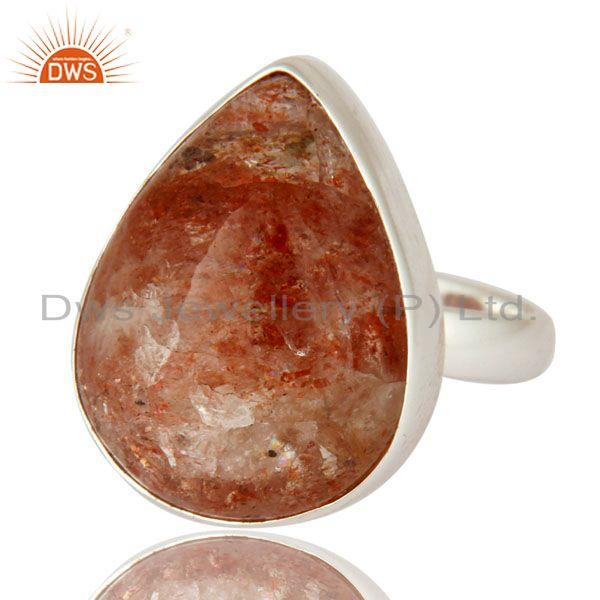 Exporter Handmade High-Polish Solid 925 Sterling Silver Natural Sunstone Ring
