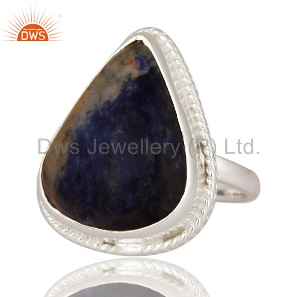 Exporter Premium Quality Handmade 925 Sterling Silver Ring With Natural Sodalite Gemstone