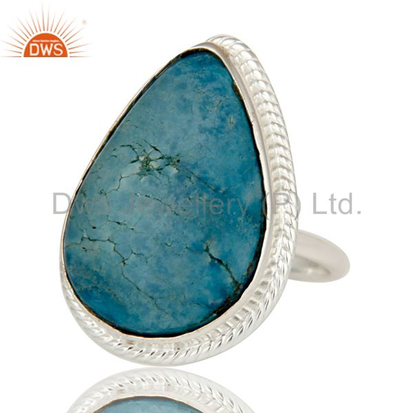 Exporter Premium Quality Handmade 925 Sterling Silver Ring Natural Turquoise Gemstone