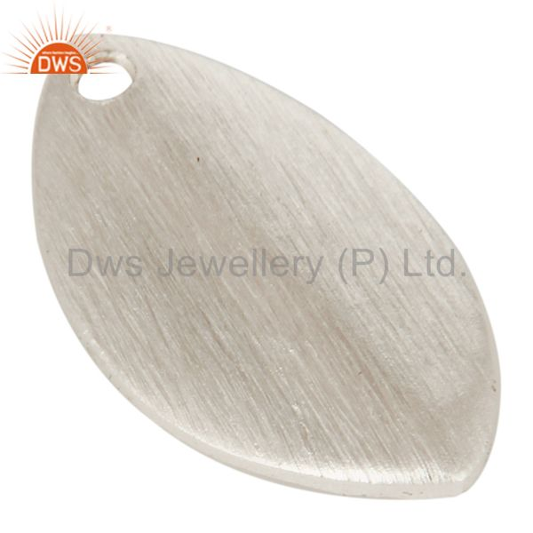 Exporter 925 Silver Plated Brass Matte Finish Marquise Shape Finding Charm Jewelry