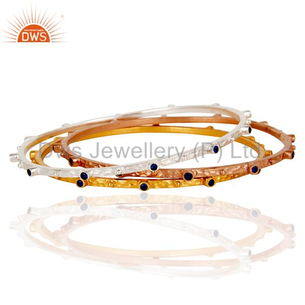 Supplier of Rose gold yellow gold silver over zircon bangle fashion jewelry set