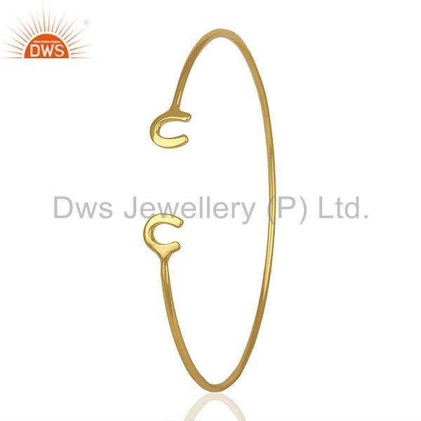 Exporter Designer Gold Plated Fashion Cuff Bracelet Manufacturer India