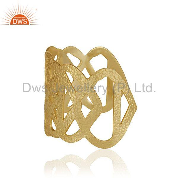 Exporter Handcrafted Brass 18k Gold Plated Fashion Cuff Bracelet Manufacturer