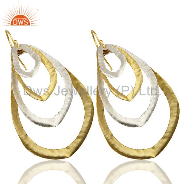 Exporter 14K Gold Plated Silver Plated Traditional Handmade Fashion Dangle Earrings