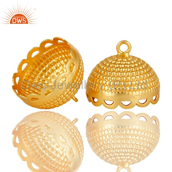 Exporter 18K Yellow Gold Plated Brass Traditional Jhumka Component