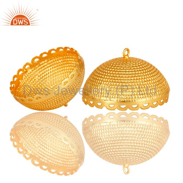 Exporter 18K Yellow Gold Plated Traditional South Indian Jhumka Finding
