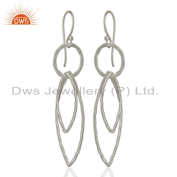 Exporter 925 Sterling Silver Plated Brass Earring Jewelry Manufacturer Supplier