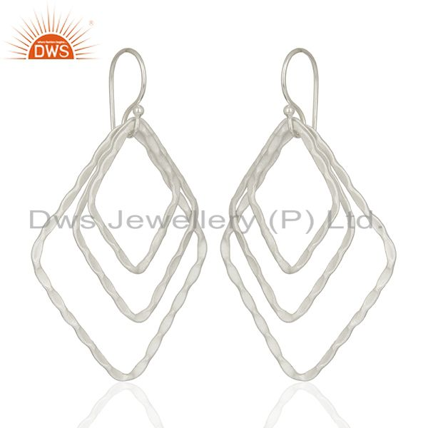 Exporter Handmade Silver Plated Designer Brass Earrings Jewelry Supplier