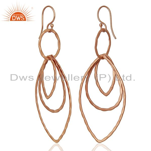 Exporter Rose Gold Plated Designer Fashion Earrings Jewelry wholesale Supplier