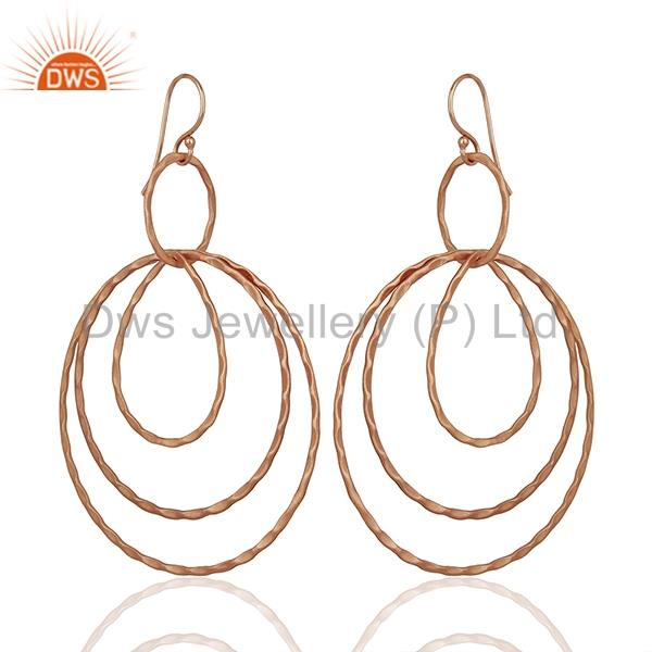 Exporter Rose Gold Plated Brass Fashion Earrings Jewelry Manufacturer Supplier