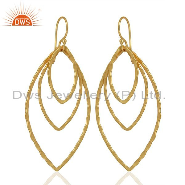 Exporter Handmade Design Gold Plated Fashion Earrings Jewelry Supplier
