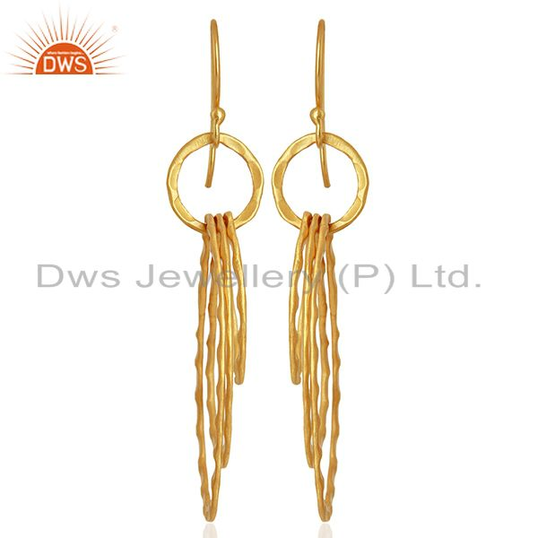Exporter Designer Gold Plated Womens Fashion Earrings Jewelry Wholesale