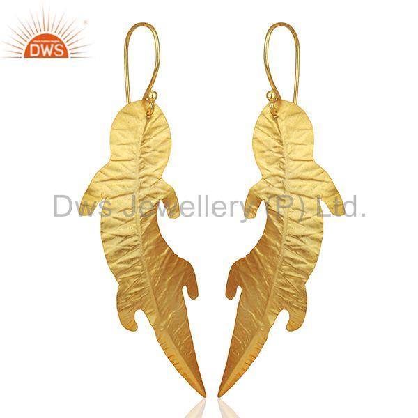 Exporter Customized Gold Plated Brass Fashion Dangle Earrings Manufacturer