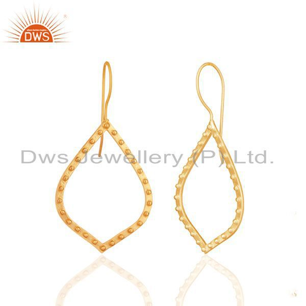 Exporter Indian Handcrafted Brass Gold Plated Fashion Earrings Manufacturer
