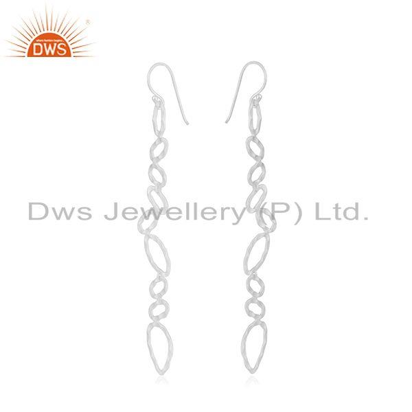 Exporter Silver Plated Designer Brass Fashion Earrings For Girls Jewelry