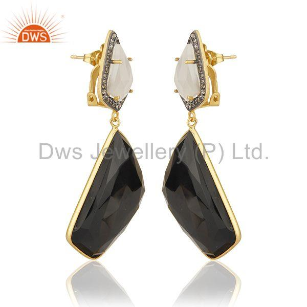 Exporter Black onyx Gemstone 925 Silver Clip On Earrings Manufacturer from India