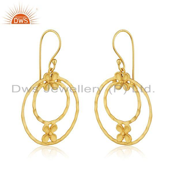 Exporter Handmade Brass Fashion Gold Plated Designer Fashion Earrings Wholesaler India