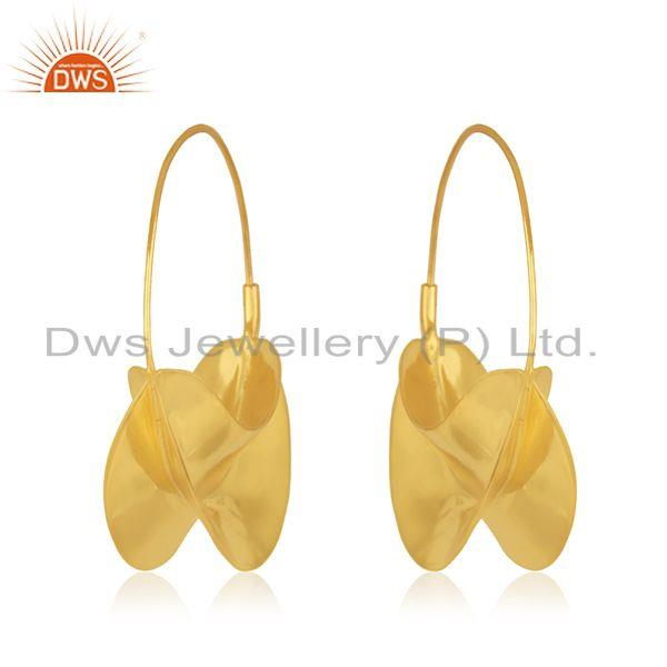 Exporter Manufacturer Gold Plated Brass Fashion Hoop Earring Jewelry Supplier
