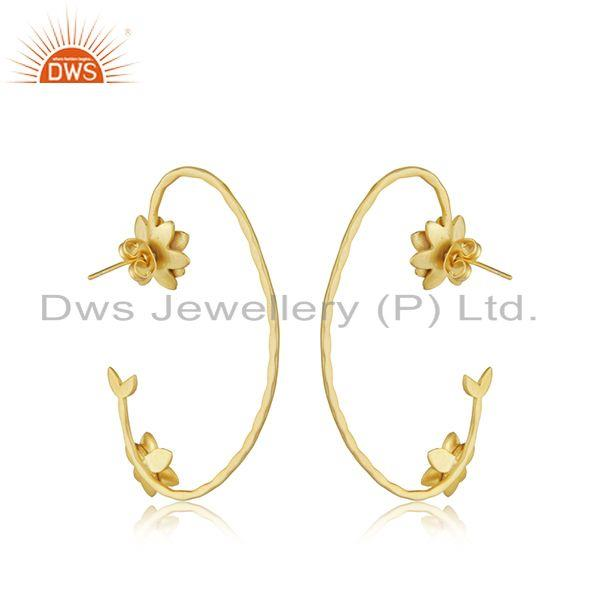 Exporter New Arrival 18k Gold Plated Brass Designer Fashion Earrings Jewelry
