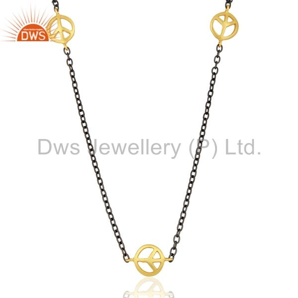Exporter Designer Womens Gold Plated Brass Chain Necklace Jewelry Manufacturer