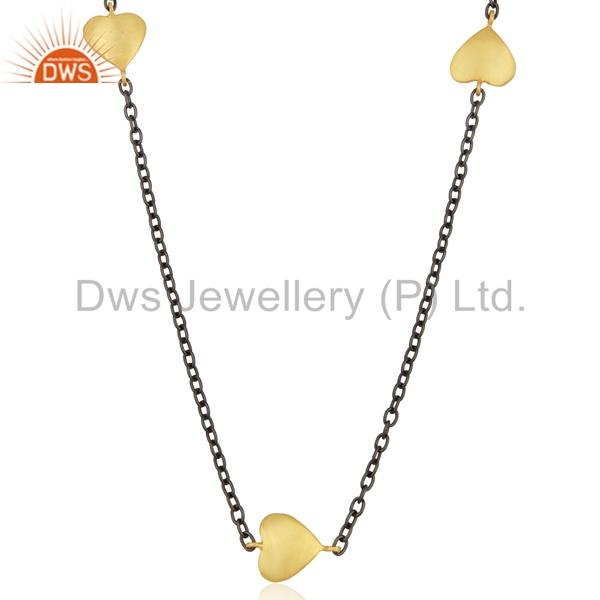 Exporter Indian Gold Plated Womens Brass Fashion Chain Necklace Supplier