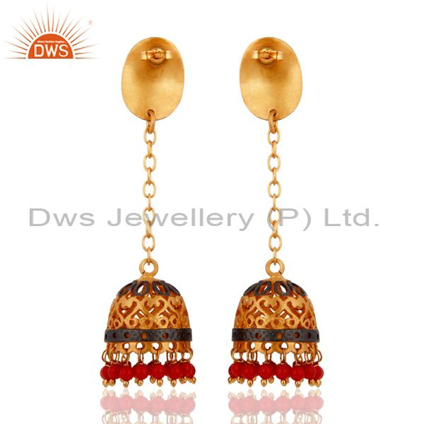 Exporter Bollywood Style Indian Traditional Bridal Gold Plated Turquoise Jewelry Earring