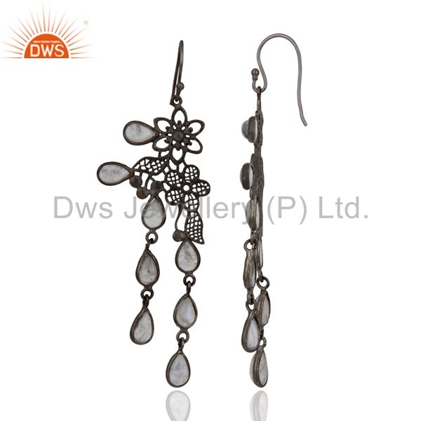 Exporter New Collection! Rainbow Moonstone Party Wear Women Dangle Earrings Jewelry