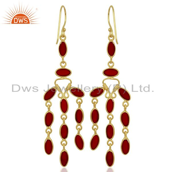 Supplier of Red Hydro Long Dangle Fashion Spring Season Jewelry