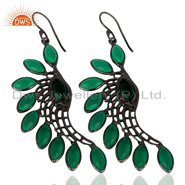Wholesale Green Hydro Wings Filigreen Fashion Wholesale Fashion 14K Gold Plated Earring