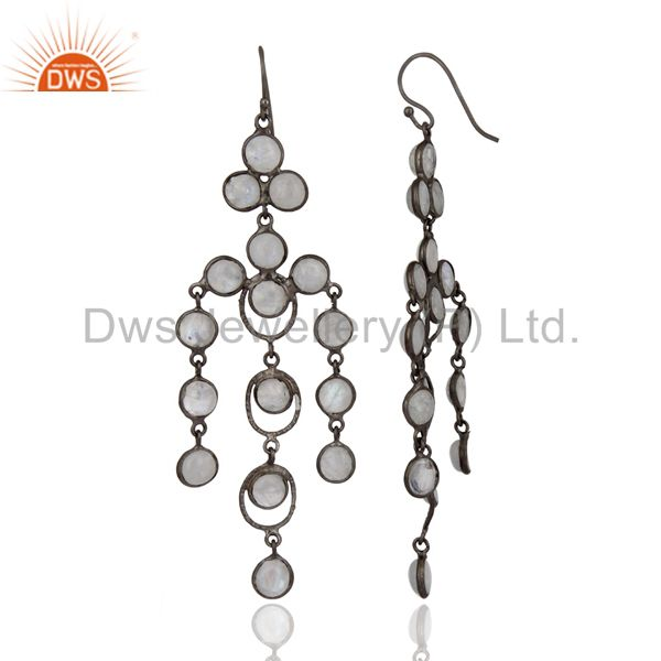 Exporter Hand Crafted Rainbow Moonstone Twisted Wire Designer New Fashion Earrings