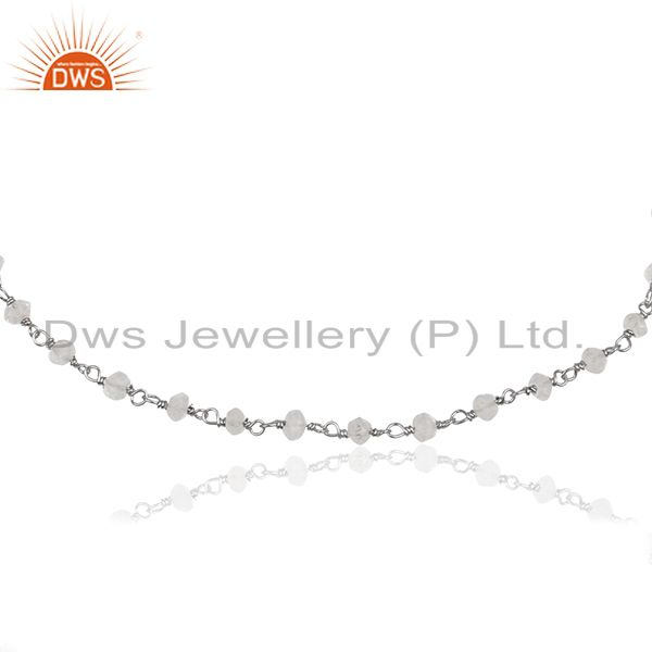 Exporter Handmade 925 Silver Crystal Quartz Beaded Gemstone Bracelet Supplier