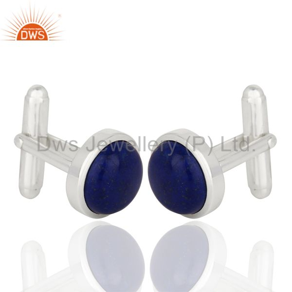Exporter Lapis Sterling Silver Cufflinks Mens Jewelry
