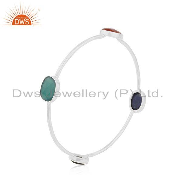 Supplier of 925 sterling silver designer gemstone bangle jewelry