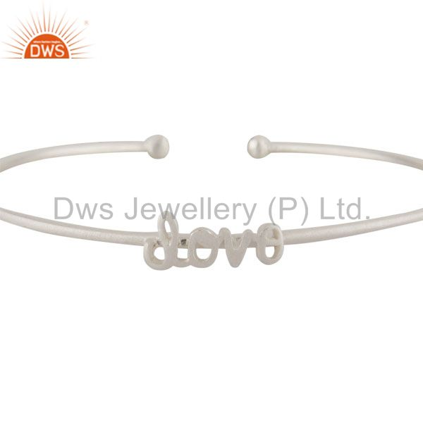 Supplier of Handmade sterling silver love stackable bangle cuff jewelry