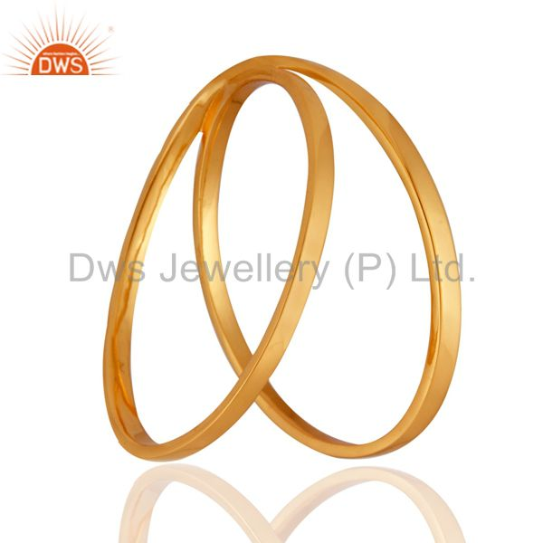 Supplier of Genuine 18-karat yellow gold plated high polished bangle