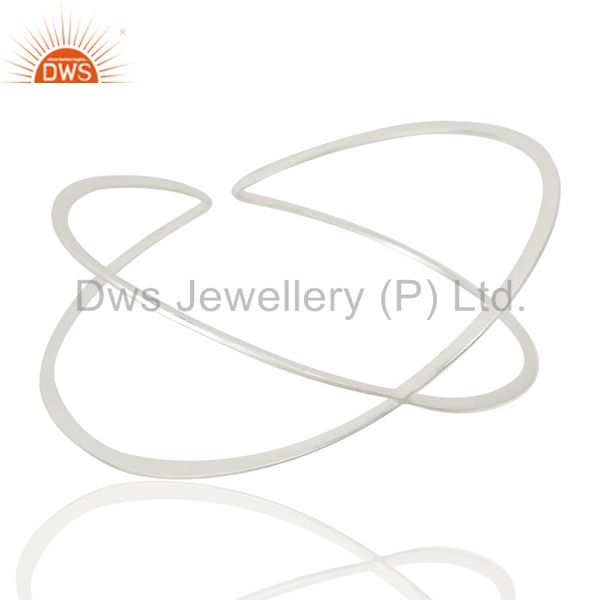 Exporter Silver Plated Over Brass Design Wire Cuff Bracelet Jewelry