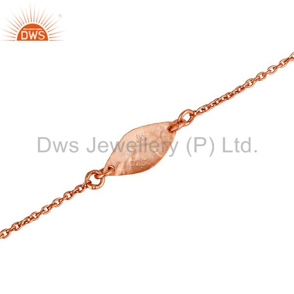 Exporter Luxury 18k Rose Gold Plated 925 Sterling Silver Fashion Jewellery Chain Bracelet