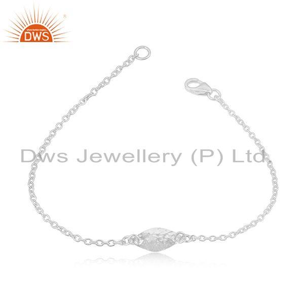 Exporter Handmade Luxury Solid 925 Sterling Silver Fashion Jewellery Chain Bracelet
