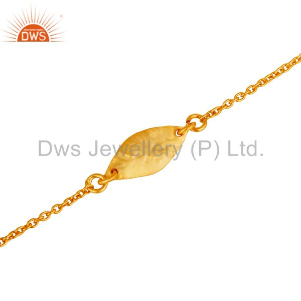 Exporter Luxury 18k Gold Plated 925 Sterling Silver Fashion Jewellery Chain Bracelet