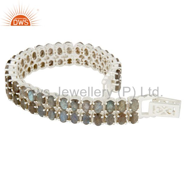 Suppliers 925 Sterling Silver Labradorite Gemstone Tennis Bracelet