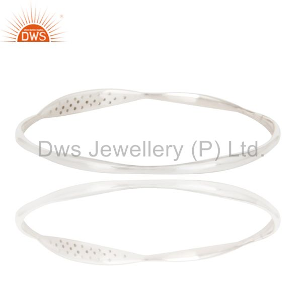 Wholesalers of Solid sterling silver art deco white topaz bangle jewelry