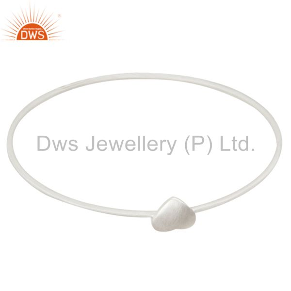 Handmade 925 solid sterling silver stackable heart bangle jewelry Exporter