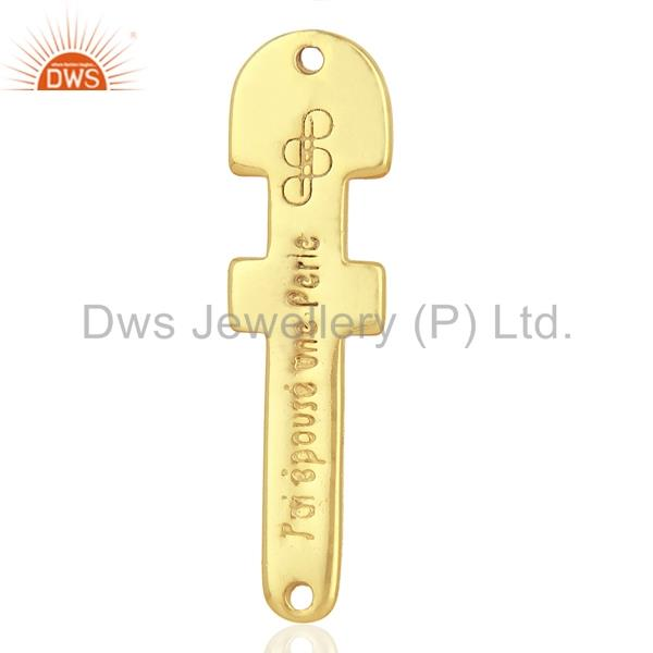 Exporter 925 Sterling Silver Gold Plated Handmade Connector Jewelry Supplier