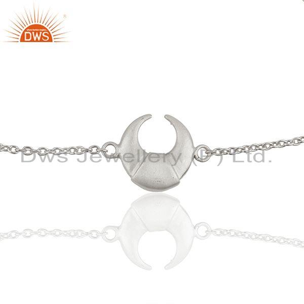 Exporter Moon Charm 925 Sterling Silver Chain Bracelet Wholesale Jewelry