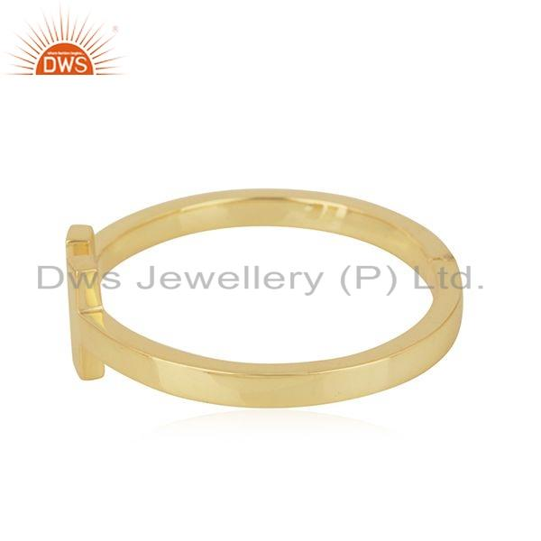 Exporter Indian 18k Gold Plated 925 Sterling Plain Silver Cuff Bangle Jewelry