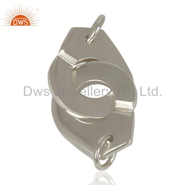 Exporter Handmade Sterling Fine Plain Silver Connector Jewelry Manufacturer