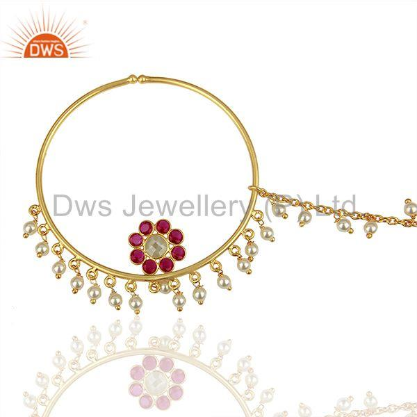 Exporter Handmade 925 Silver Gold Plated Gemstone Jewelry Findings Manufacturer