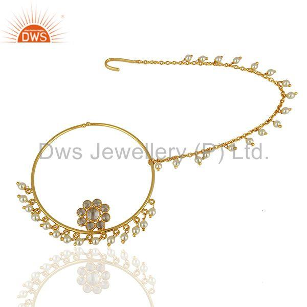 Exporter Crystal Quartz Gemstone Gold Plated Silver Traditional Jewelry Finding