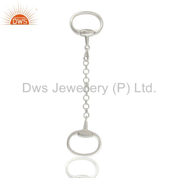 Exporter Horse Bit Snaffle Charm Solid 925 Sterling Silver Jewelry
