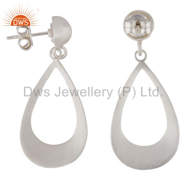 Exporter Handmade 925 Sterling Silver Cutout Teardrop Earrings